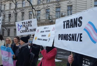 Peaceful assembly for transgender rights