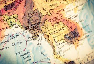 karta över Burma