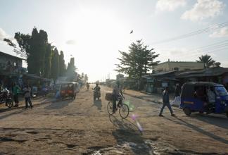 Gata i Mombasa, Kenya.